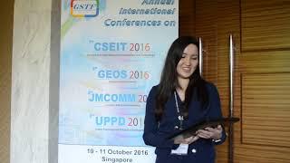 GEOS 2016 Ms. Dinara Talgarbayeva Best Student Paper