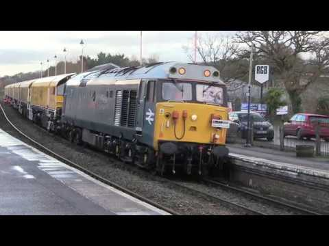 50008 'Thunderer' passes Crediton with Derby R.T.C. to Okeha…