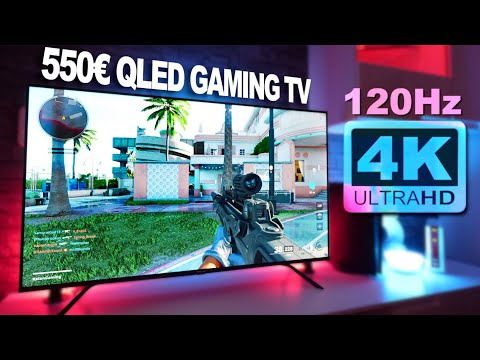 Nur 550€ 😍 50 Zoll QLED GAMING TV mit 4K und 1080p 120Hz!