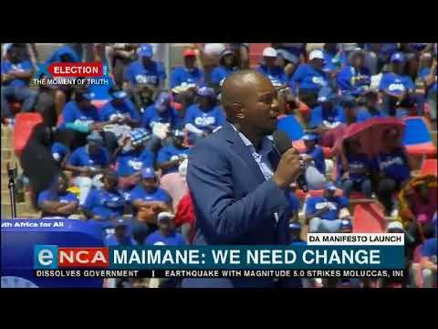 Maimane says SA needs change