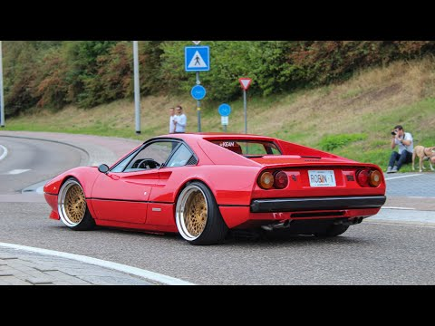 Bagged Ferrari 308 GTB w/ AL13 Forged Wheels   Sounds & Accelerations