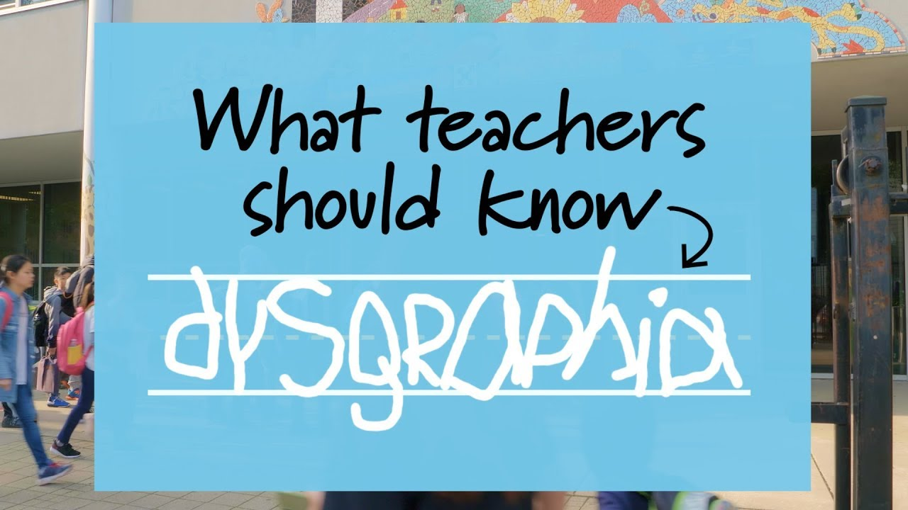 Supporting Students With Dysgraphia