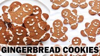 The BEST Gingerbread Man Cookies || Gluten Free