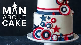 Stars, Stripes & Toasted Marshmallow | Man About Cake AMERICANA CAKE with Joshua John Russell