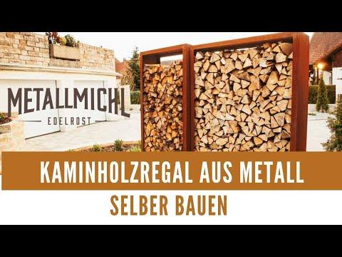 Kaminholzregal aus Metall für Aussen selber bauen - Bausatz für Brennholzregal
