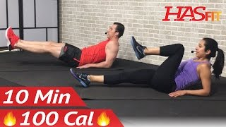 10 Min Lower Ab Workout for Women & Men - 10 Minute Lower Abs Belly Fat Flattener Stomach Workout by HASfit