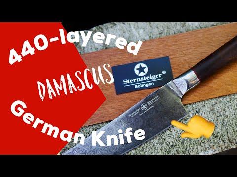Sternsteiger Arminius séf kés,damaszkus kés,konyhakés,német főző kés,Sternsteiger kés,szkés
