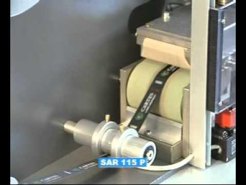 série SAR 115-MACHINE POUR REPASSER LES  RUBANS TISSÉS ET LES ÉLASTIQUES