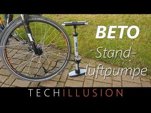 🛠PRAKTISCHE Fahrrad Standluftpumpe im Test - Beto Standluftpumpe - Review & Test