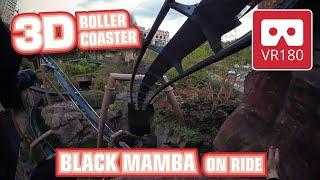 Roller Coaster VR180 3D Experience - Black Mamba | VR POV @ Phantasialand Achterbahn Montaña Rusa