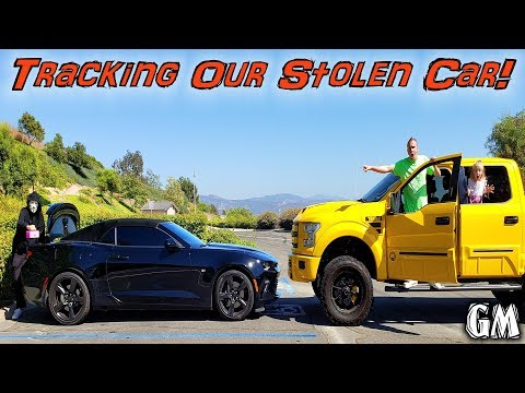 Tracking Game Master in Dad's Stolen Car! Game Master's Little Pink Box Found!!!