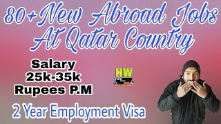 25000 To 35000 Rupees Salary At Qatar Country, With 2 Years Employment Gulf Jobs