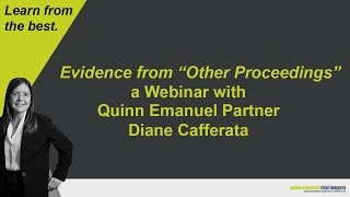 "Evidence from ""Other Proceedings"" with Partner Diane Cafferata"