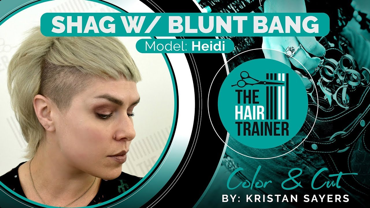 Heidi - Shag with Blunt Bang Cut