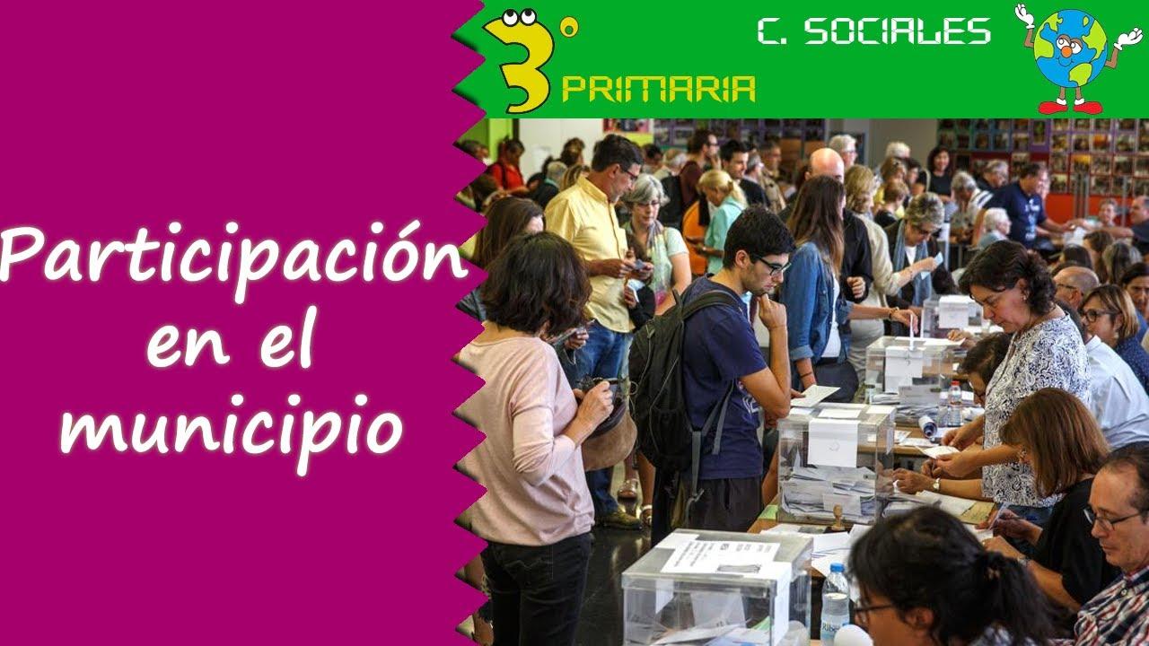 Ciencias Sociales. 3º Primaria. Tema 3. Participamos en nuestra localidad
