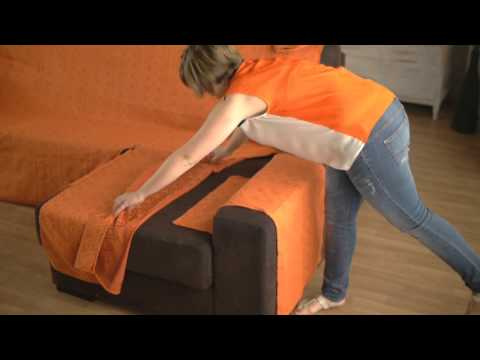 Housse pour canapé d'angle accoudoirs indépendants