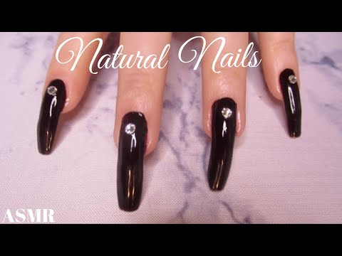Natural Long nails❥Relaxation Sounds❥Scratching & Tapping (no talking) ASMR