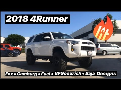 2018 4Runner SR5 Lift Wheels and Tires