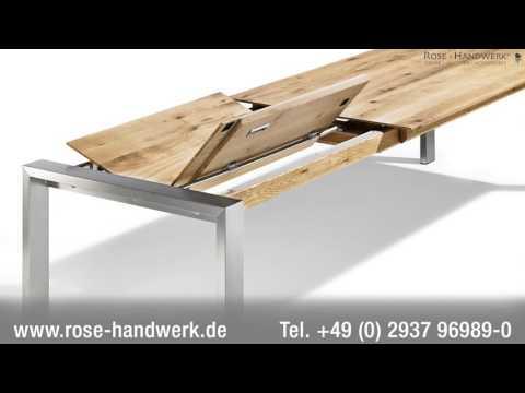Esstisch ausziehbar & massiv - ausgefallene Esstische nach Mass vom Hersteller