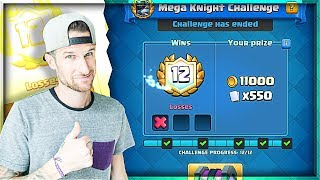 12 WIN Mega Knight DECK!! • We Won the Mega Knight  |  Clash Royale!