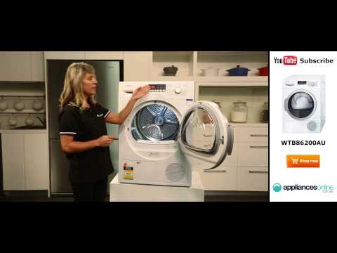 8kg Bosch Condenser Dryer WTB86200AU Reviewed by product expert – Appliances Online