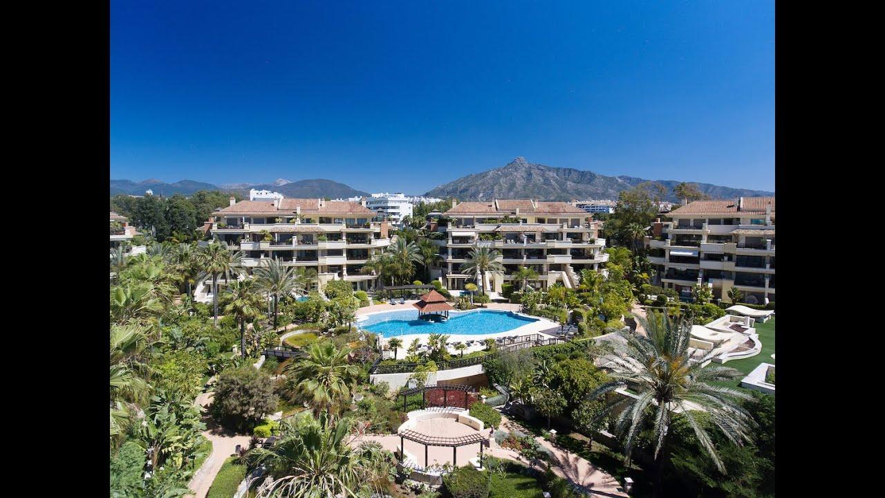 Elegantly refurbished ground floor duplex apartment with private pool for sale in Laguna de Banus, Puerto Banus, Marbella
