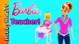 Mattel Barbie Teacher, All Accessories + Student [Box Opening] [Toy Review]