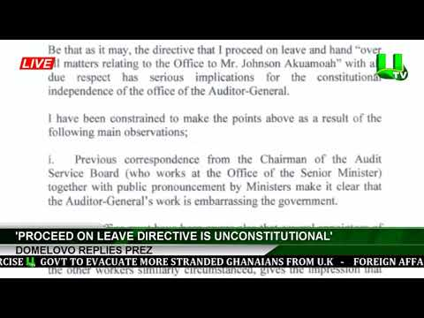 Accumulated leave directive unconstitutional – Domelevo to Akufo-Addo