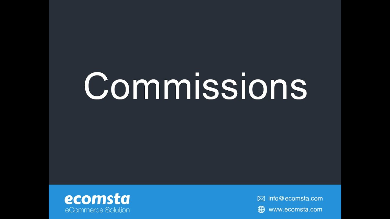 How to create different commission levels in eComsta?