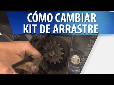 Como Cambiar el kit de Arrastre de una Moto