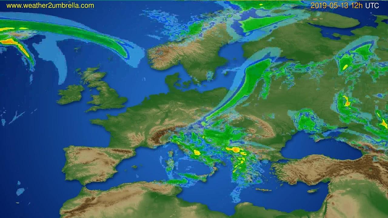 Radar forecast Europe // modelrun: 00h UTC 2019-05-13