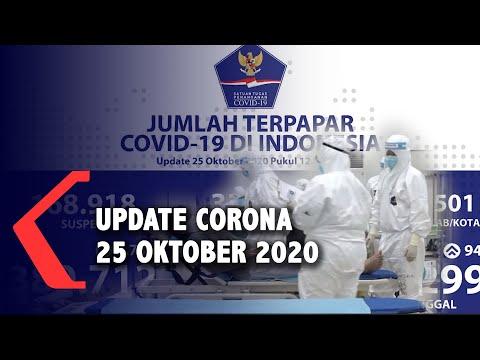 update corona oktober bertambah total kasus positif
