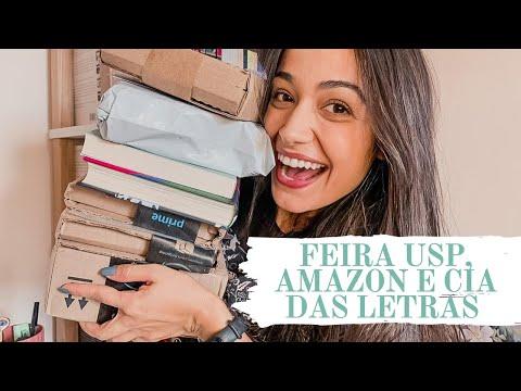UNBOXING DE LIVROS #14 : FEIRA DA USP, AMAZON, COMPANHIA DAS LETRAS | Os Livros Livram