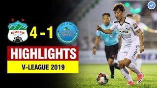 Highlights HAGL 4-1 Khánh Hòa   Minh Vương - Văn Toàn hóa rồng lập siêu phẩm rung chuyển đất Pleiku