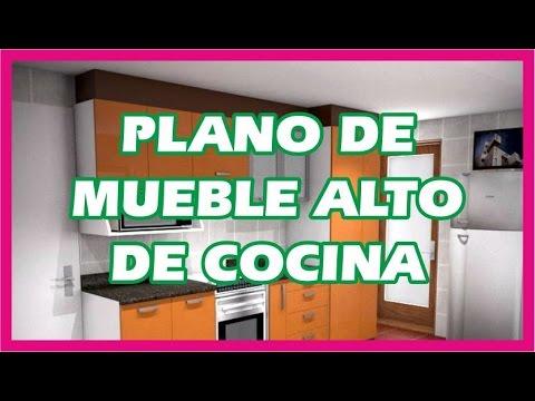 PLANO DE MUEBLE ALTO DE COCINA