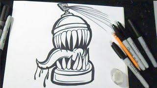 How to Draw Spraycan Graffiti