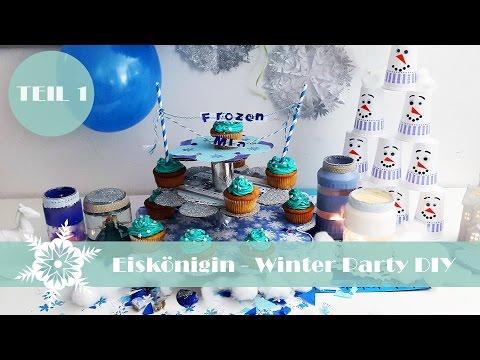 Eiskönigin Winter Party DIY Teil 1.   Olaf-Kegelspiel, Elsa-Schneekugel & mehr