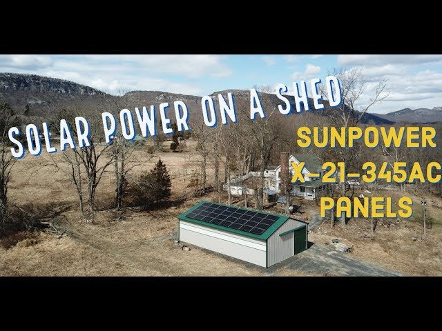 Solar on a Shed Install