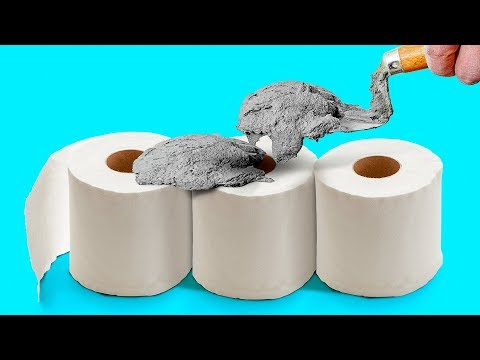 5 Minute Cement Crafts