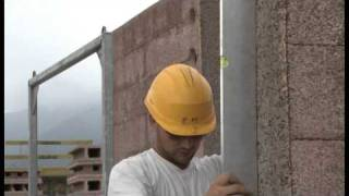 Installing the dual layer concrete walls