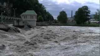 preview picture of video 'Murwehr am Tag nach dem Hochwasser'