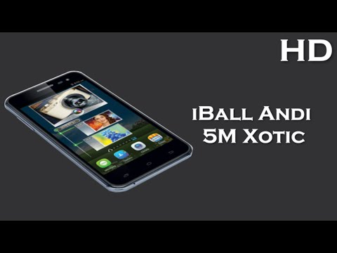 iBall Andi 5M Xotic comes with 5.0 Inch Display 2000mAh battery, 2GB RAM, Android 4.4 KitKat