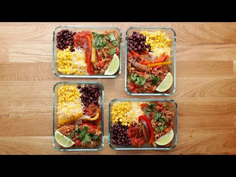 Video Weekday Meal-Prep Turkey Taco Bowls