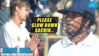 Sachin & Tony Greig on FIRE | Even on a Slow Wicket !!