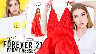 TRYING ON FOREVER 21 PROM DRESSES... Finally !!