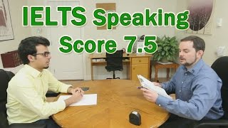 IELTS Speaking Example Arabic Learner Score 7.5