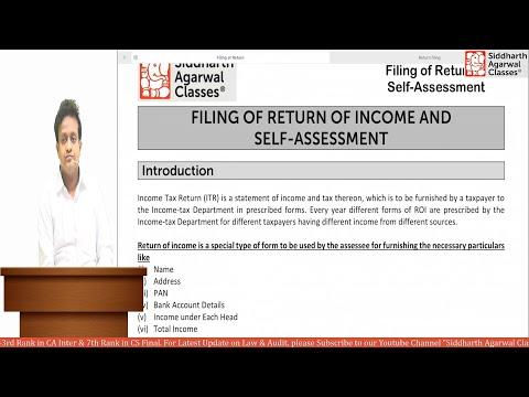 Income Tax Return Filing Procedure | Siddharth Agarwal