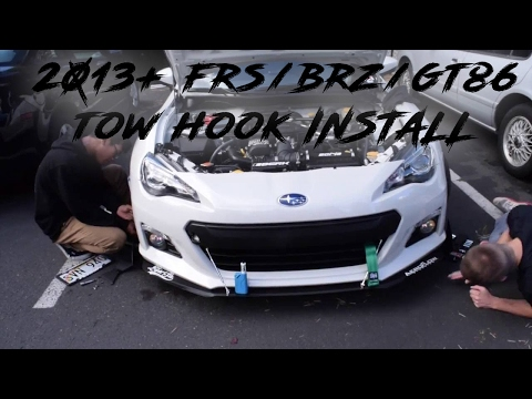 Tow Strap Install | 2013+ BRZ/FRS/GT86 - смотреть онлайн на