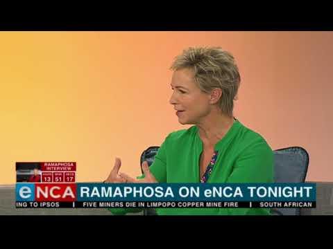 Ramaphosa on TonightWIthJaneDutton