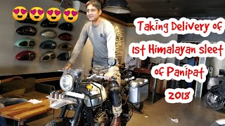 Taking Delivery of 1st Himalayan sleet of the city 2018 | Himalayan sleet with panniers